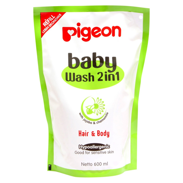 harga pigeon baby wash 2 in 1 reffil 600 ml hair & body sabun shampo bayi elevenia.co.id