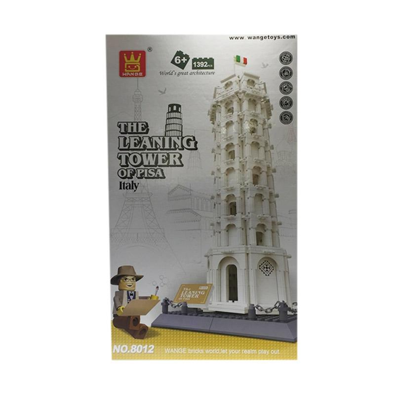 harga Wange The Leaning Tower of Pisa Italy Mainan Blok dan Puzzle elevenia.co.id