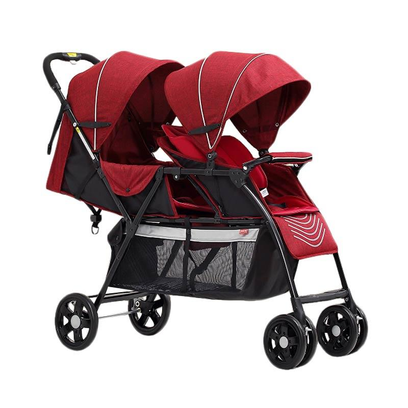 harga Baby's Only T2 Double Twin Tandem Stroller - Red elevenia.co.id