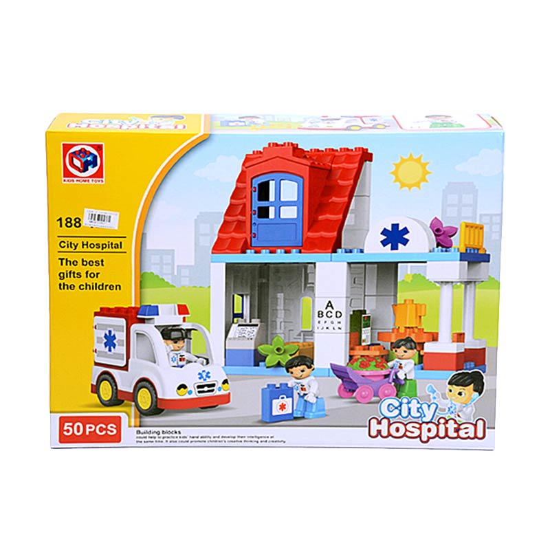 harga Otoys PA-G255827-188-123 City Hospital Lego RS Mainan Balok [50 Pcs] elevenia.co.id