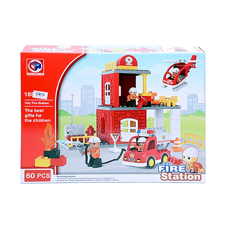 harga Otoy PA-G255908-188-103 City Fire Station Mainan Balok Lego [60 PCS] elevenia.co.id