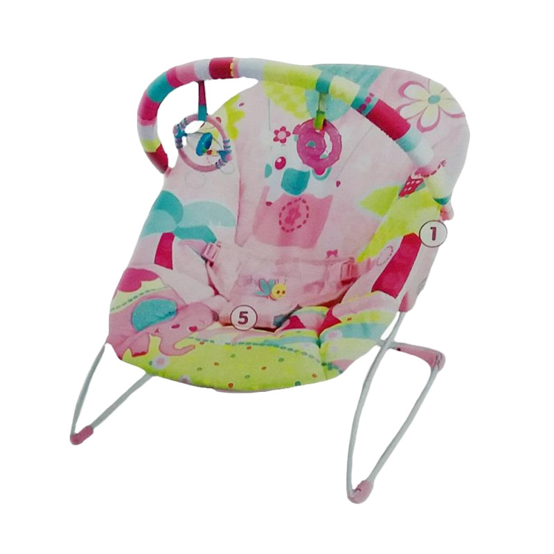 harga Mastela Music and Soothe 6706 Baby Bouncer - Pink elevenia.co.id