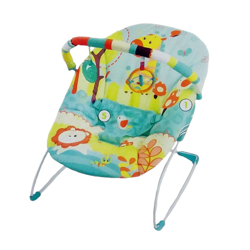 harga Mastela Music and Soothe 6703 Baby Bouncer - Green elevenia.co.id
