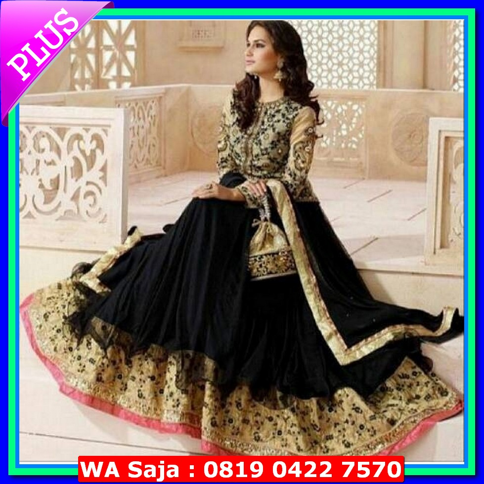 harga dress cassandra black (sari india || baju india || dress india) elevenia.co.id