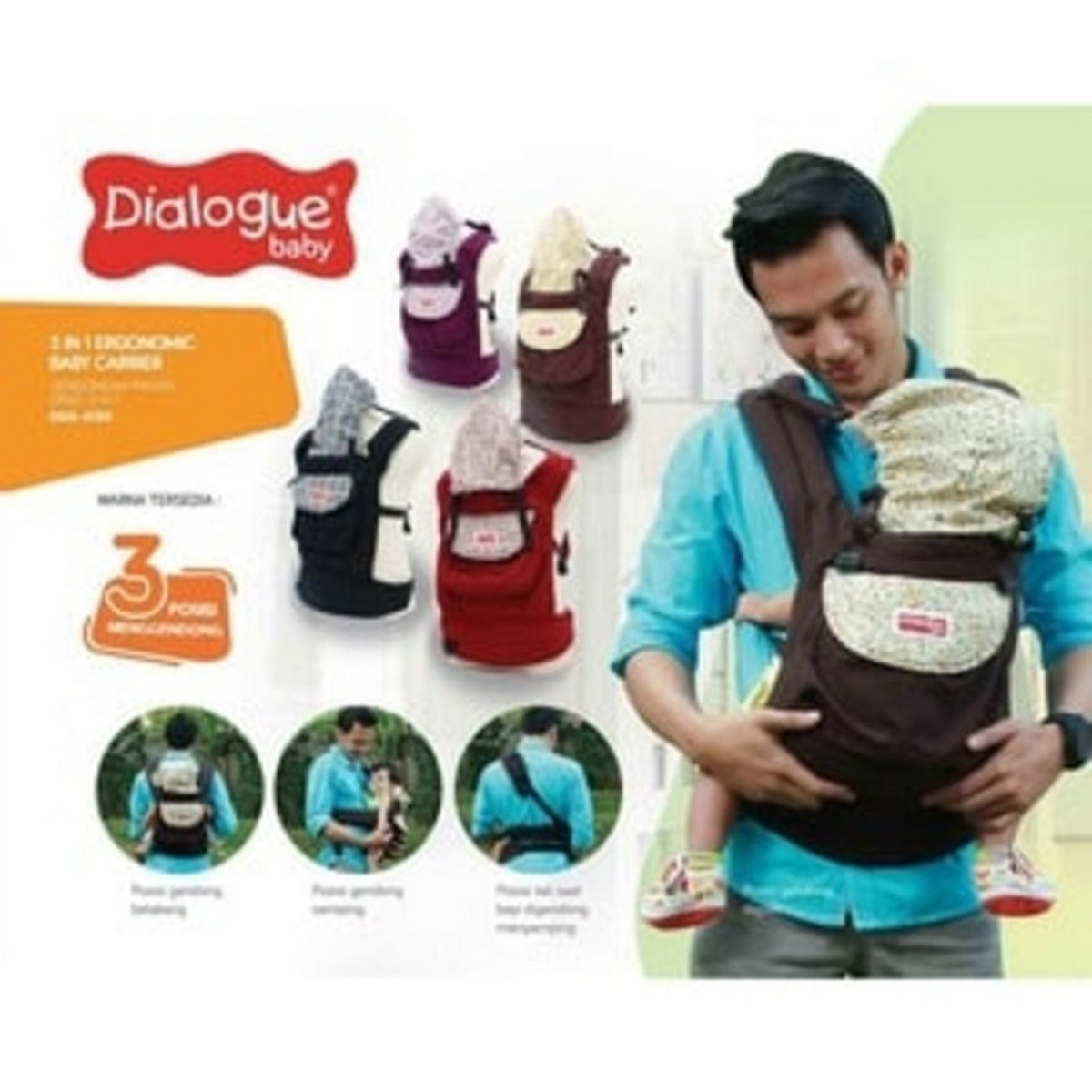 harga (Limited) DIALOGUE BABY CARRIER/ GENDONGAN BAYI RANSEL ERGO 3IN1 DGG4130 elevenia.co.id