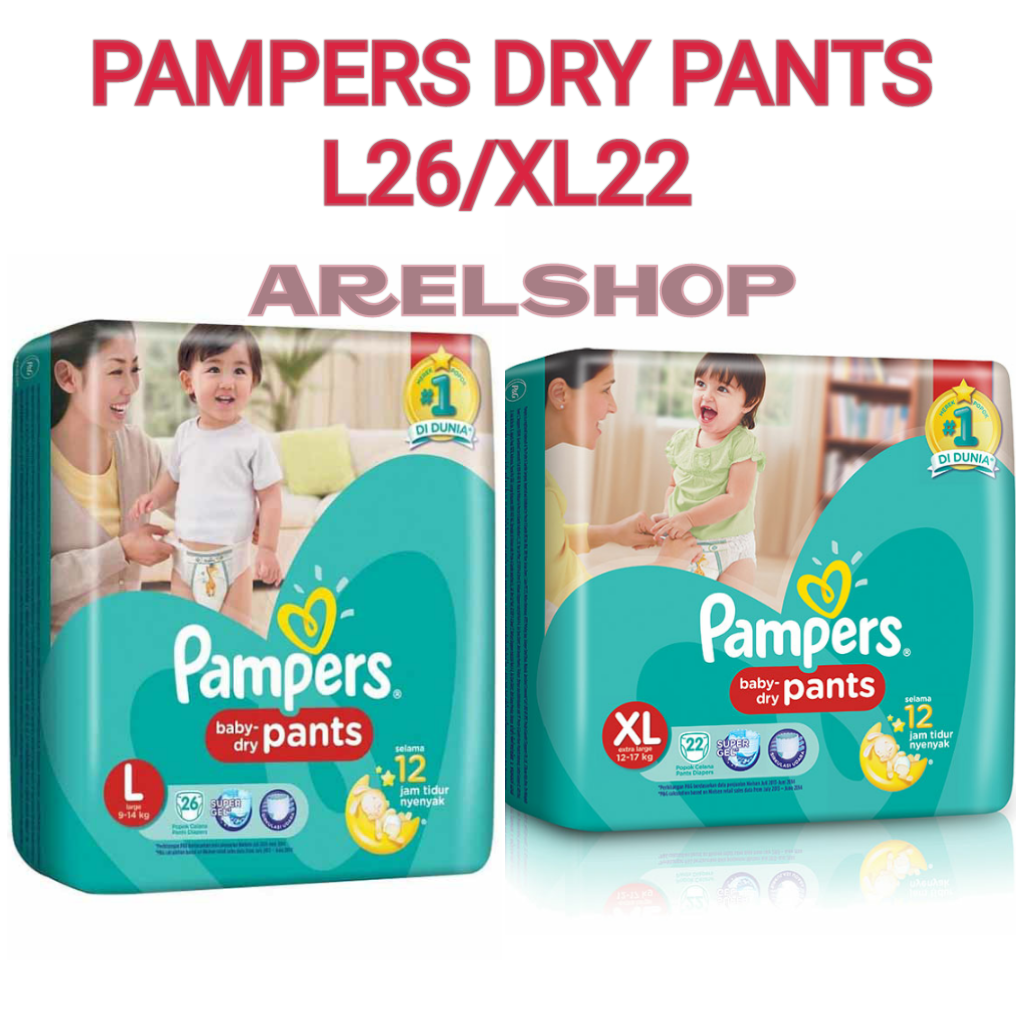 harga PAMPERS DRY PANTS L26/XL22 elevenia.co.id