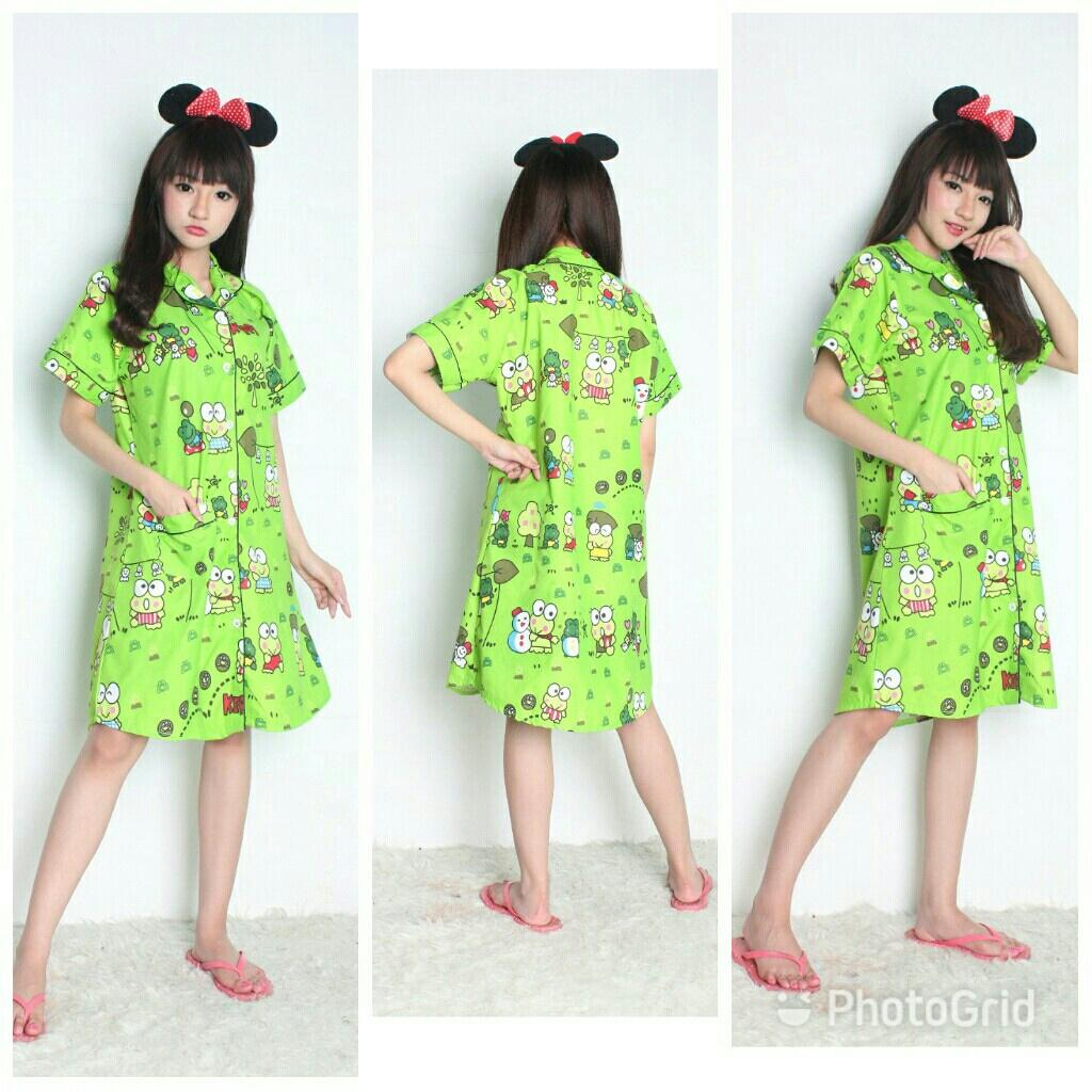 harga Cj collection Terusan daster dress pendek baju tidur piyama wanita jumbo mini dress Greenkero elevenia.co.id