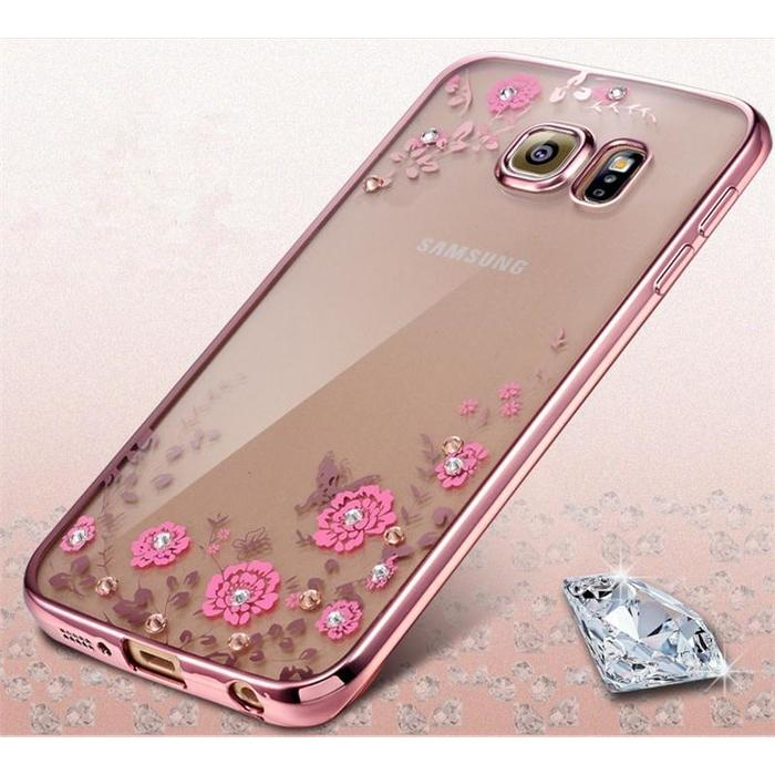 Casing Silicon Soft Case Samsung Galaxy J7 Prime Flower Bling Diamond