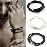 jge055 gelang kulit twist leather bracelet