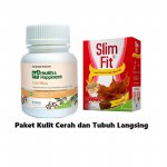 PAKET KULIT CERAH DAN TUBUH LANGSING (H2 FAIR SKIN 30 CAP + SLIM &FIT POWDER MILK CHOCOLATE 6 X 54G)