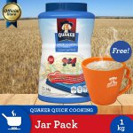 [Buy 1 Free Mug] Quaker Quick Cooking Oatmeal Jar