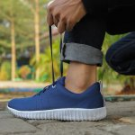 Sneakers Casual / Sneaker Pria / Sepatu Import William in Navy Blue