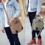 Tas Import Kanvas Selempang [Kode : DONNIE] / Shoulder Canvas Bag