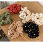 IK09 Ikat Rambut Scrunchie Elastic Hair Rubber Bands Bahan Paris