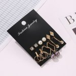 Oila anting set 6 pasang pearl geometric set earrings jan204