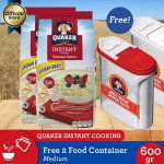 [Free 2 Food Container] Quaker Instant Oatmeal Medium 600gr - 2 Pcs