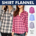 New! Premium Shirt Flannel - Good Quality - Kemeja Wanita - Best Seller