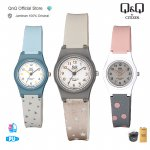 Q&Q Jam Tangan Wanita Analog Fashion - VP47 VP47J Water Resist / QnQ QQ Original / Warna Pastel