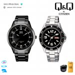 Q&Q Original Jam Tangan Pria Formal Analog QA58J / A172J | Water Resist / Stainless Steel | QQ/QnQ