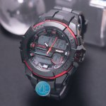 Digitec jam Tangan Sport Pria DG 3012 T Triple Time Original Anti Air - Hitam List Merah