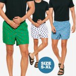 MENS GRAPHIC CELANA PENDEK BOXER_20 MOTIVE_SIZE S - XL