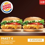 Burger King - 2 pcs Quattro Cheese King Chicken Fillet