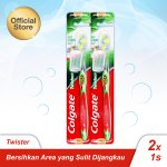Colgate Twister Soft Toothbrush/Sikat Gigi - Twin Pack