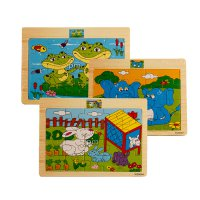 Puzzle Kayu - Wooden Puzzle Animal - 8 Gambar  18 x 15 cm Best Buy