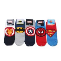 Kaos Kaki Korea Marvel Superhero | All Size (33 - 40) / Cotton blended 80%