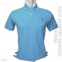 POLO COUNTRY Original C5-36 Kaos Kerah Pria Cotton Lycra Biru Muda