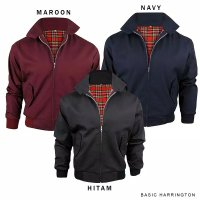 jaket harrington polos All size Fit to L