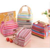 AIQI Lunch Bag / Tas Bekal Garis Warna-Warni
