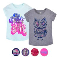 Girls Junior Short Sleeve T-Shirts With Print
