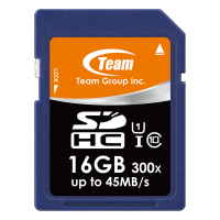 SD Card TEAM UHS-1 (45MB/s) SDHC 16GB SDCard