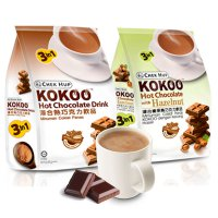 Hot Chocolate Drink 3in1 Chek Hup Kokoo Original & Hazelnut Flavor - Isi 15 Sachet