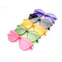 Jelly Colour Transparant Sunglasses - Kacamata Fashion Wanita