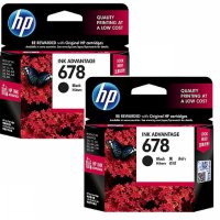 [1+1] [Paket Hemat] 2Pcs TINTA HP 678 BLACK Original