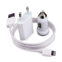 Fonel USB Travel Adapter & Car Charger For Iphone 5/ 5s/5c/ ipad mini