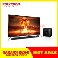 POLYTRON 43B1550 LED TV 43 INCH CINEMAX SOUNDBAR