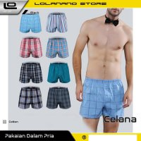 Celana Dalam Pria Classic Plaid Trunks Boxer Cotton Size fit to XL - Nk01 - Multi-Color