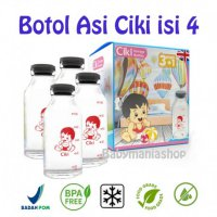 Botol ASI Kaca Sabon Ciki 100ml Isi 4 / Breastmilk Glass Bottle