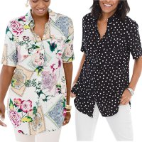 Chicos Women Popover Shirt Blouse