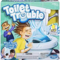 Toilet Trouble Challenge Game Funny Kids - White
