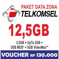 Telkomsel Data Internet Up To 12.5GB (Simpati, Kartu AS, Loop) 24jam 30hari