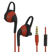 polaroid earphone sports in ear with microphone &silicone ear tip handsfree stereo headset PRE078-OR