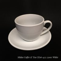 Midas Coffee & Tea Cup Mug Cangkir 230 mL Ivory White