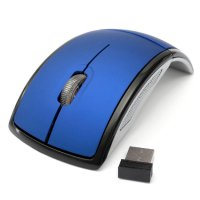 Optical Mouse Wireless Foldable 2.4Ghz / Lipat Arc + Micro USB Receiver for PC Laptop