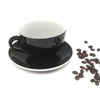 Midas Coffee Cup Mug Cangkir Latte Dwiwarna 350 mL Black White