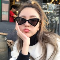 kacamata hitam unik sunnies fashion korea triangle sunglasses jgl042