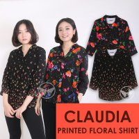 The-Fahrenheit Claudia 3/4 Sleeve Printed Floral Women Shirt